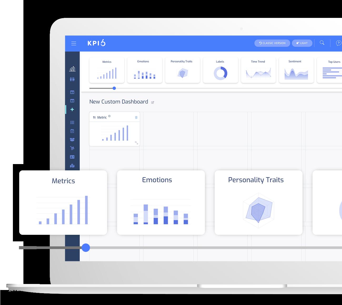 Custom dashboard for a better segmentation