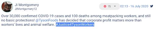 Tweet about Tyson 2